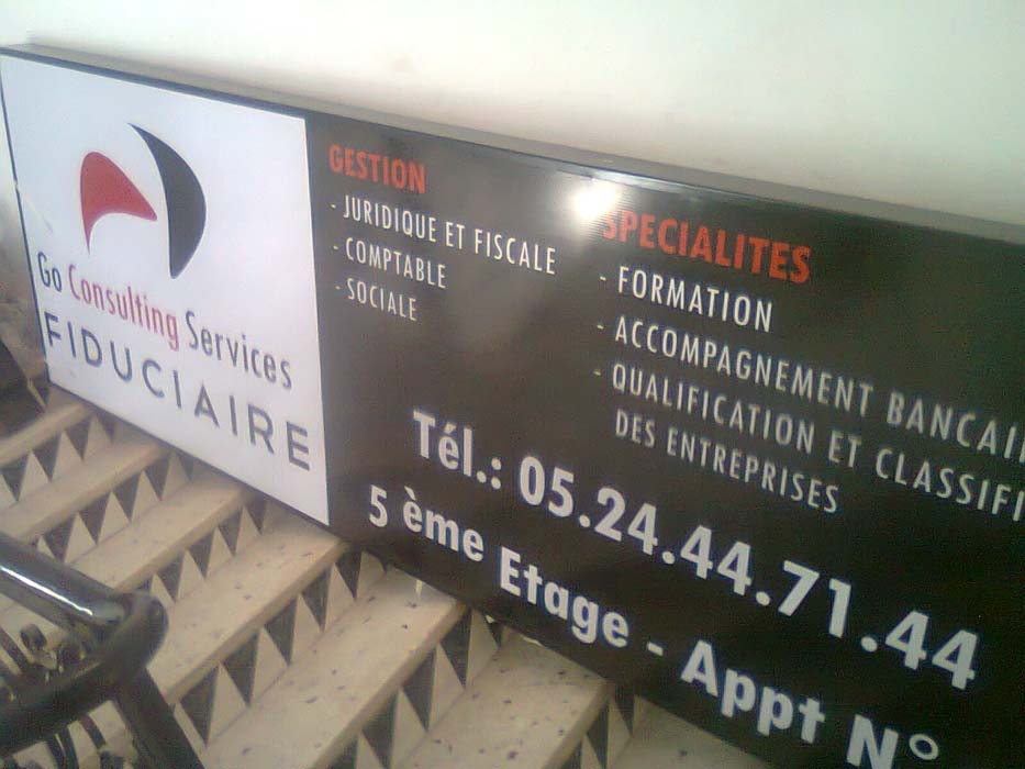 Enseigne lumineuse - GO Consulting Services - FIDUCIAIRE